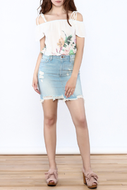 Pistola Distressed Denim Skirt - Front full body