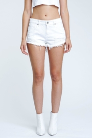 Pistola Destructed White Shorts - Front cropped