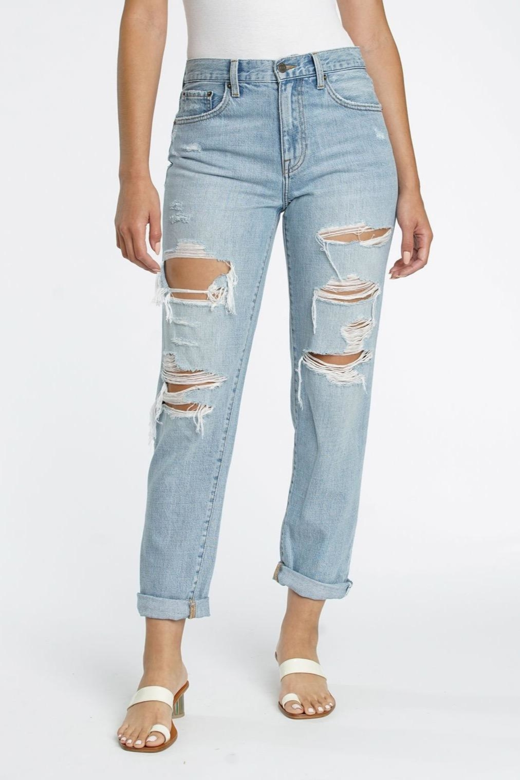 Pistola High Rise Boyfriend Jean - Front Cropped Image