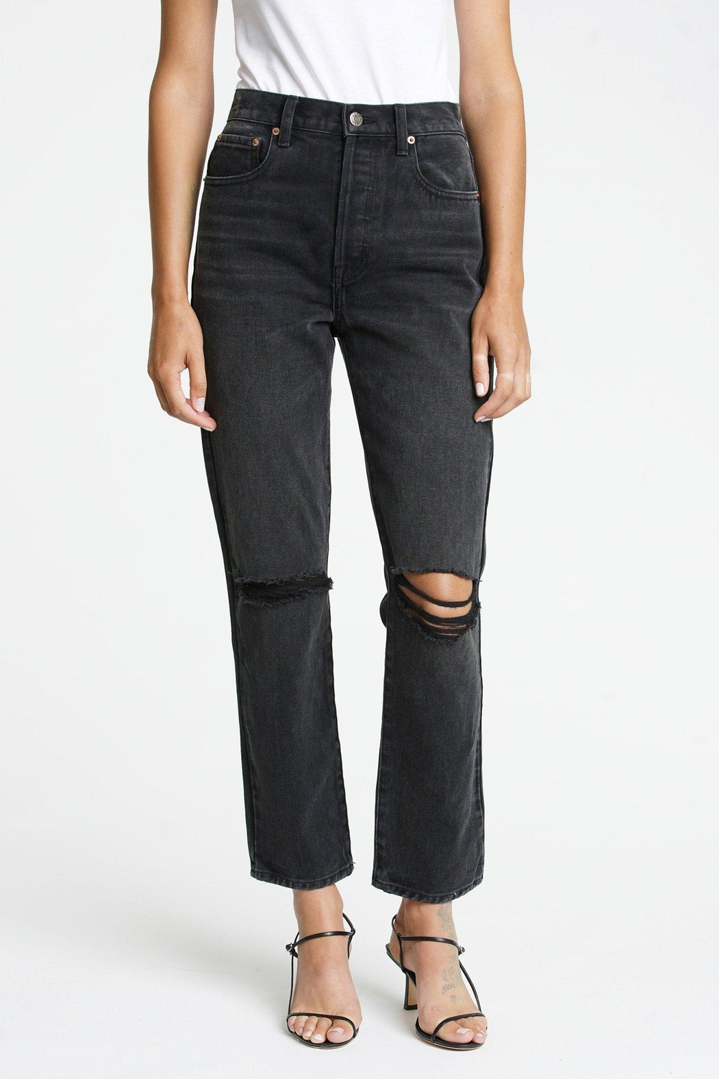 Pistola Keaton High Rise Slim Straight - Front Cropped Image