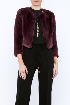 Shoptiques Product: Faux Fur Cropped Jacket