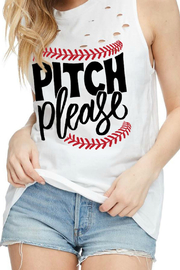 JWDesigns Pitch-Please Baseball Tank - Front cropped