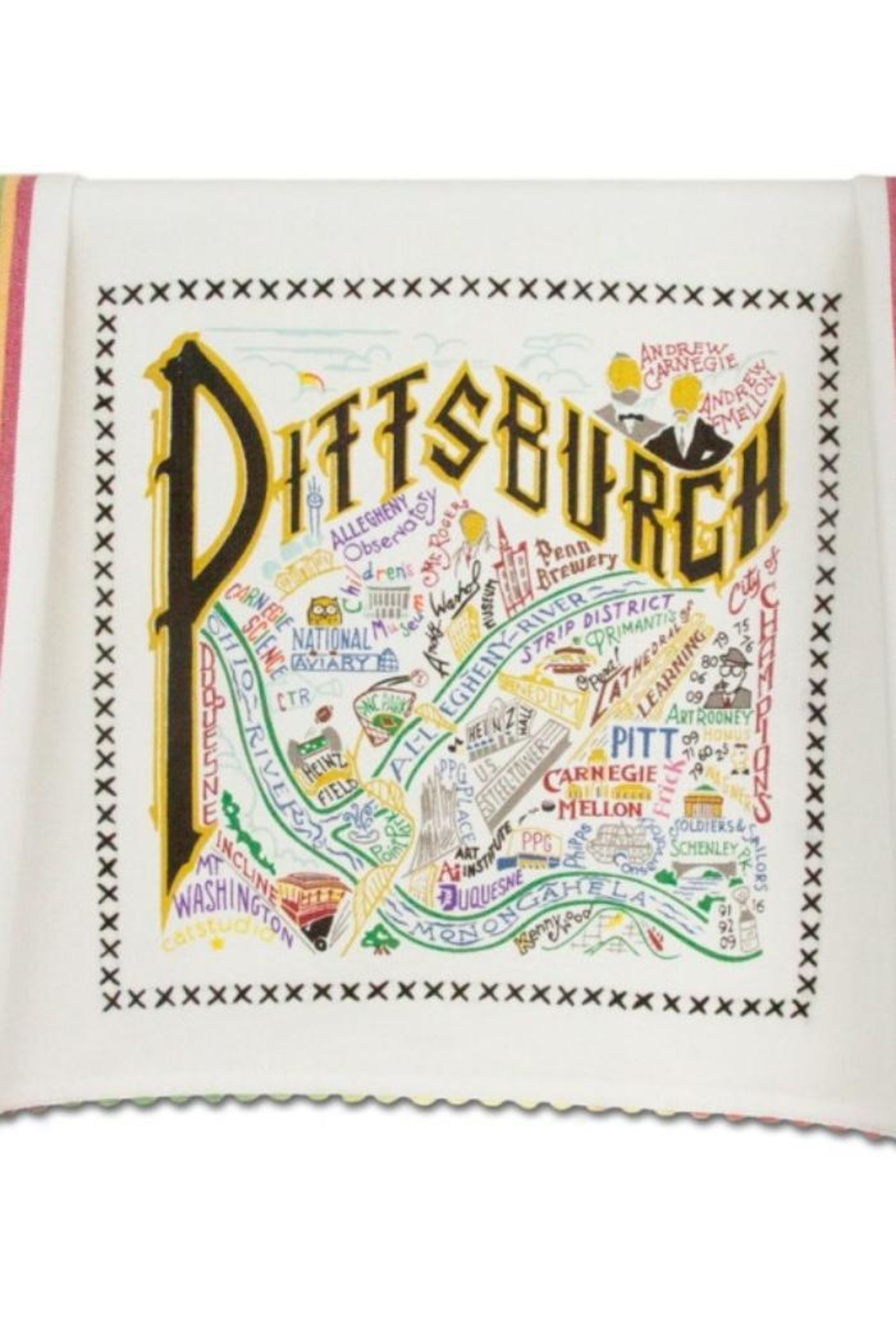 Cat Studio Pittsburgh Dish Towel - Front Cropped Image