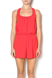 Pixie Red Ruffle Romper - Product Mini Image