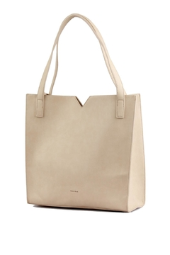 Shoptiques Product: Taupe Leather Soft Tote