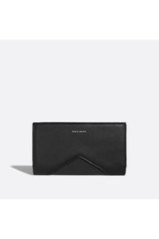 Pixie Mood Sophie Black/nubuck Wallet - Front cropped