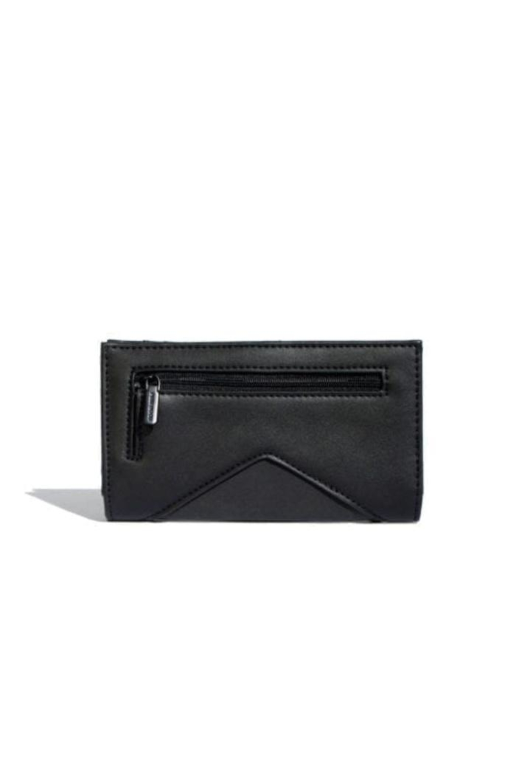 Pixie Mood Sophie Black/nubuck Wallet - Front Full Image