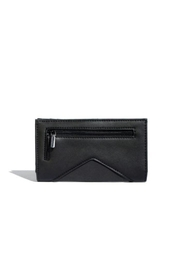 Pixie Mood Sophie Black/nubuck Wallet - Front full body