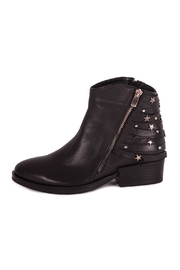Pixy Milano Black Leather Booties - Front full body