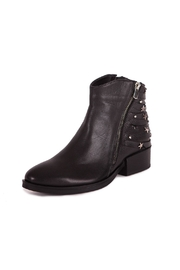 Pixy Milano Black Leather Booties - Front cropped