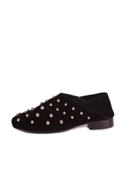 Pixy Milano Black Suede Oxfords - Front full body