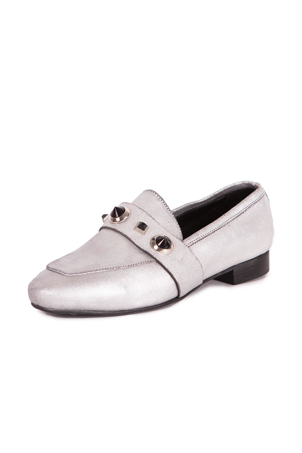 Pixy Milano Metallic Leather Oxfords - Main Image