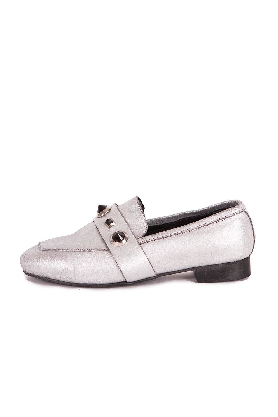 Pixy Milano Metallic Leather Oxfords - Back Cropped Image