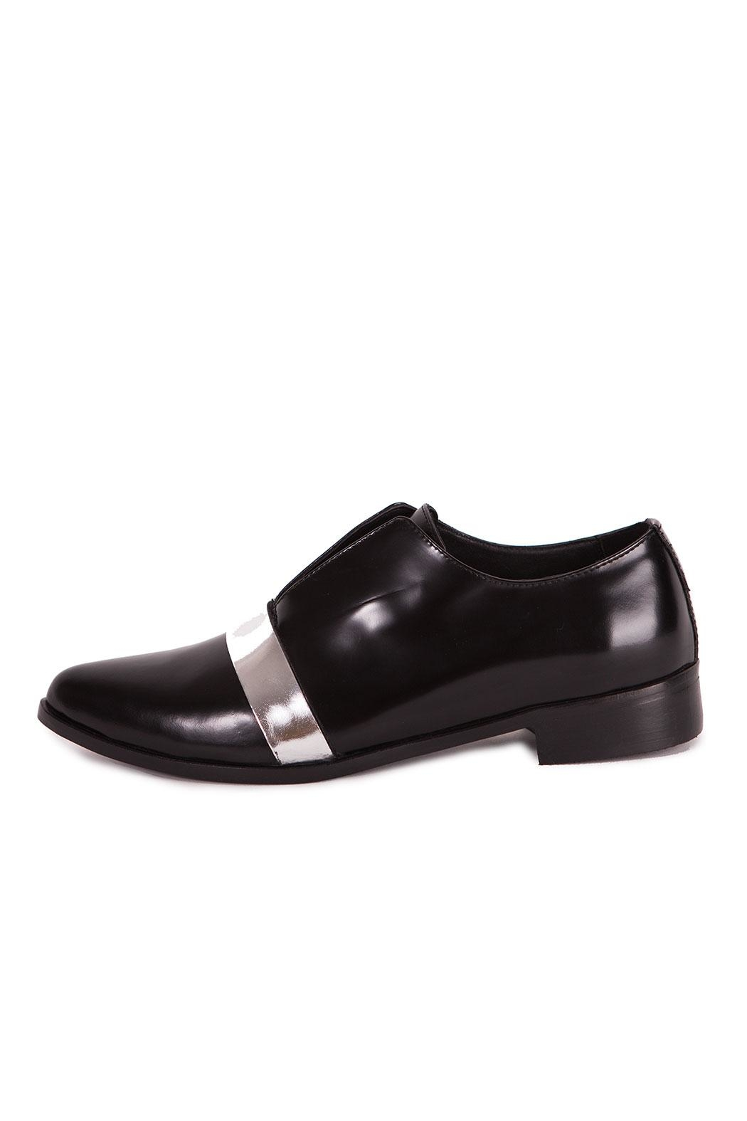 Pixy Milano Oxford Leather Shoes - Back Cropped Image