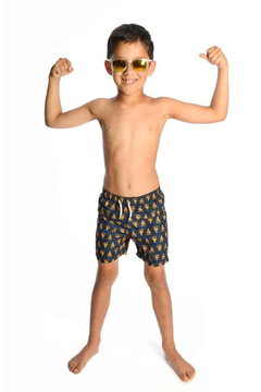 Appaman Pizza Party Mid Weight Swim Trunks - Alternate List Image