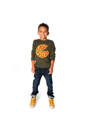 Appaman Pizza Pie Long Sleeve Tee - Front full body