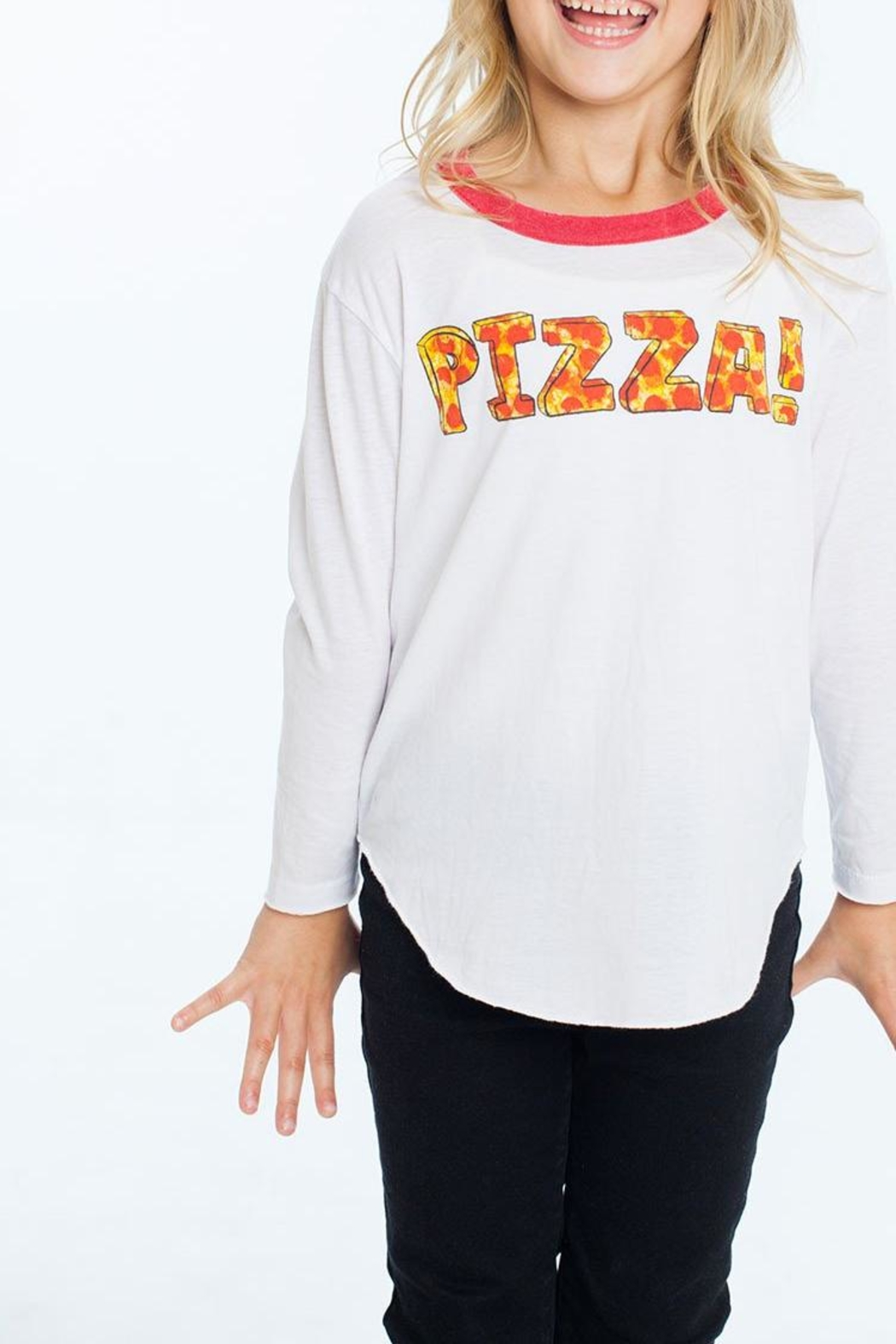 Chaser Pizza Tee - Front Full Image
