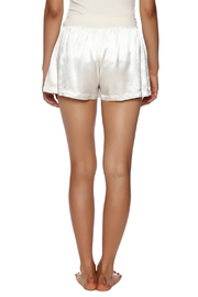 PJ Harlow Satin Boxer Short - Back cropped