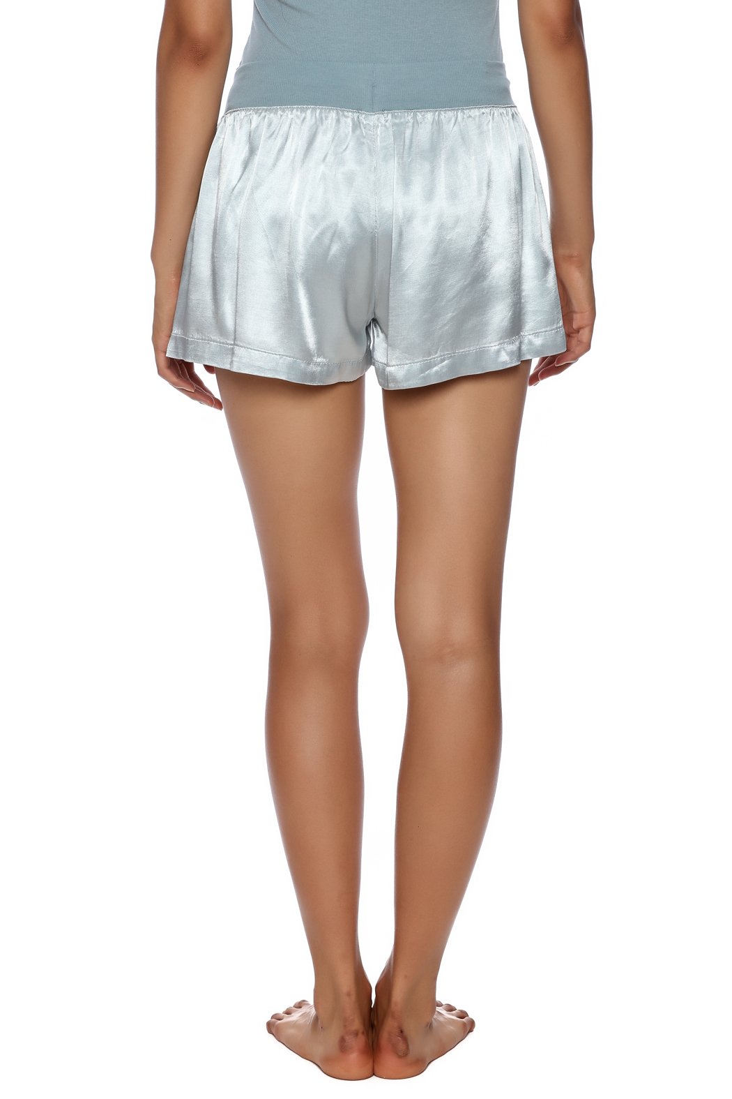 PJ Harlow Satin Boxer Short - Back Cropped Image