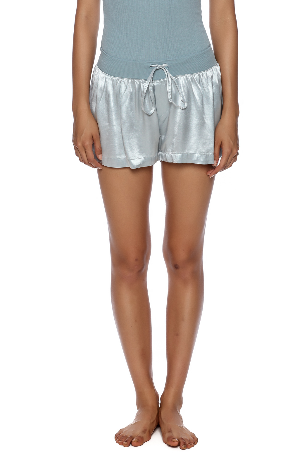 PJ Harlow Satin Boxer Short - Side Cropped Image