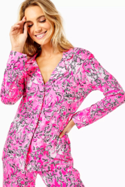 Lilly Pulitzer  PJ Knit Button-Up Top - Side cropped