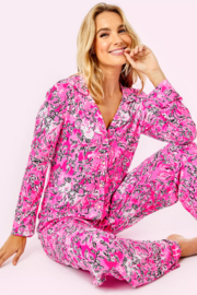 Lilly Pulitzer  PJ Knit Button-Up Top - Front cropped