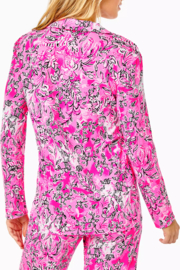 Lilly Pulitzer  PJ Knit Button-Up Top - Front full body