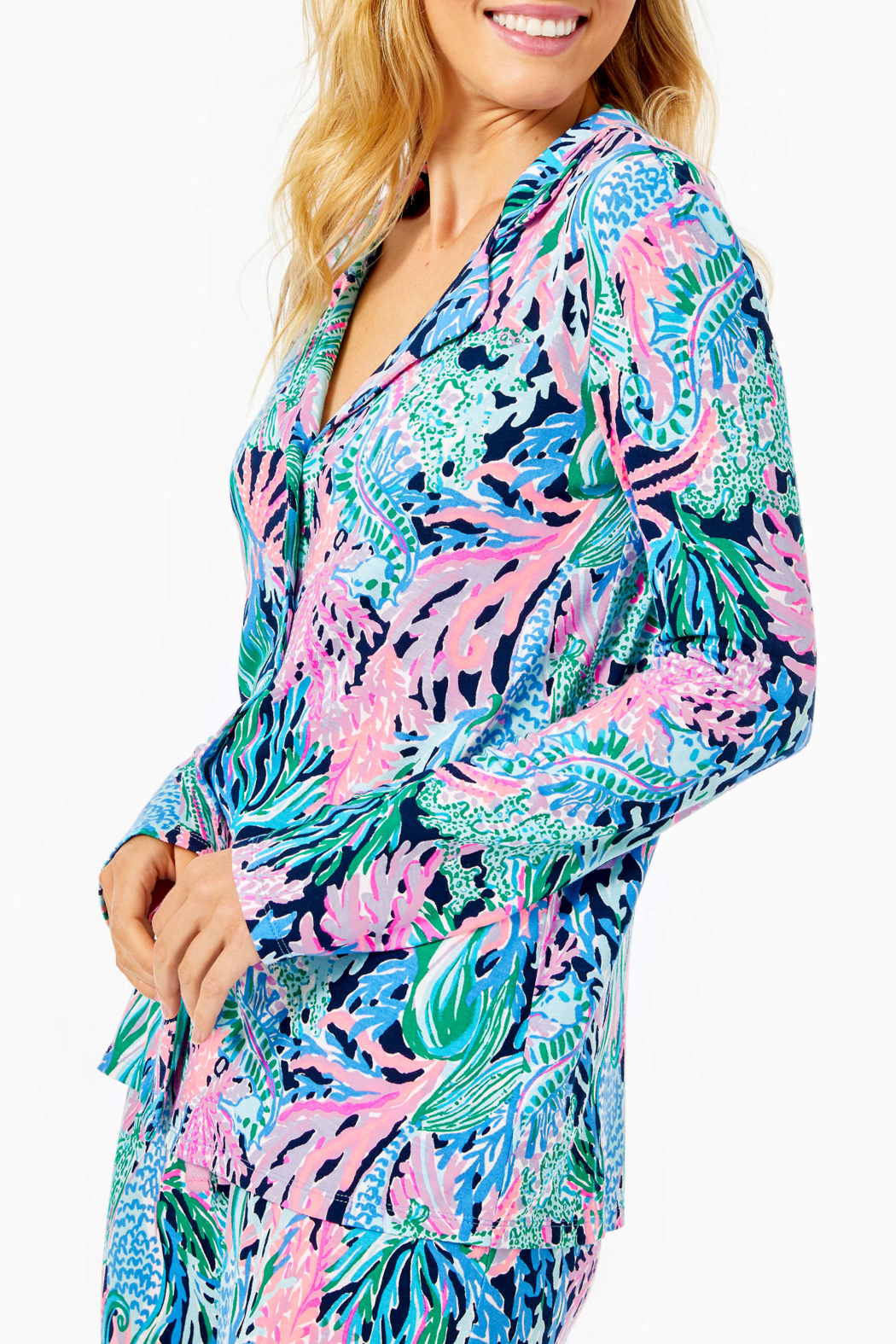 Lilly Pulitzer  PJ Knit Button-Up Top - Main Image