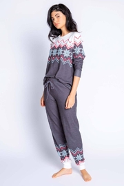 PJ Salvage Fair Isle Cozy Bottom - Front cropped
