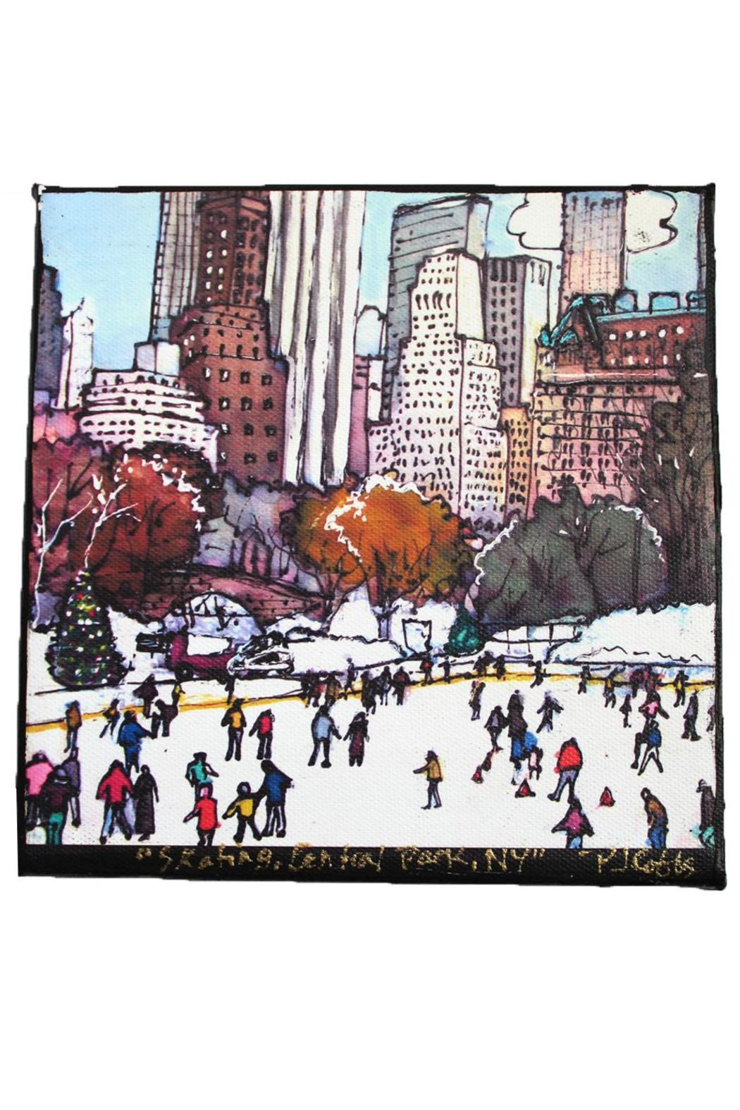 PJ Cobbs  Skating Rink Canvas - Front Cropped Image