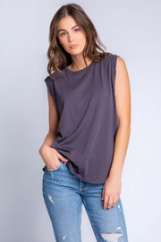 PJ Salvage Basics Tank In Slate - Front cropped