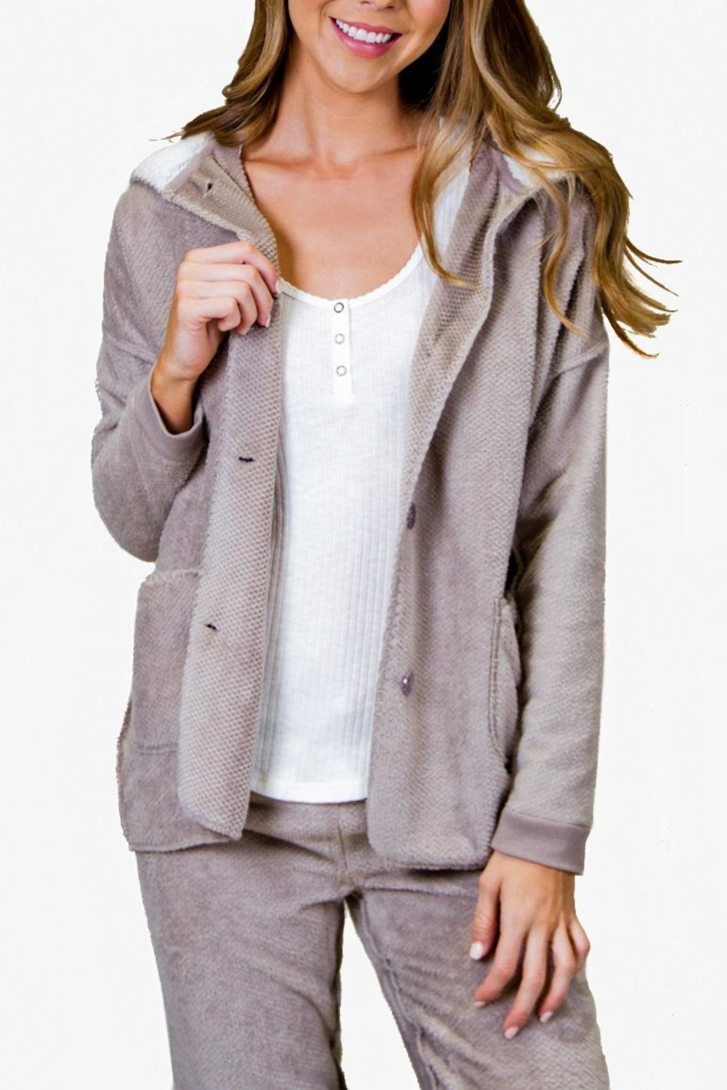 PJ Salvage Cozy Cardigan - Front Cropped Image