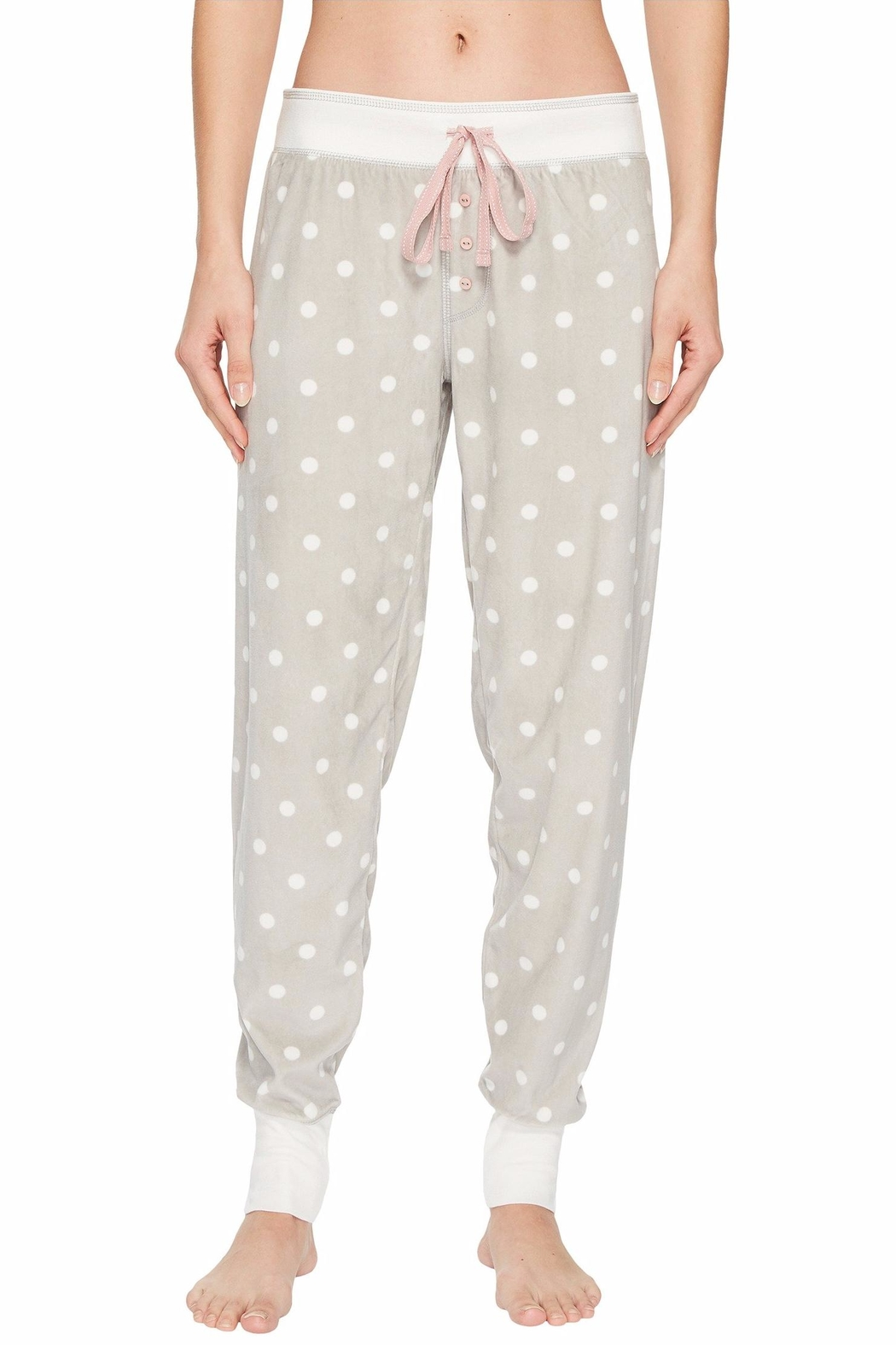 PJ Salvage Cozy Dots Jogger - Front Cropped Image
