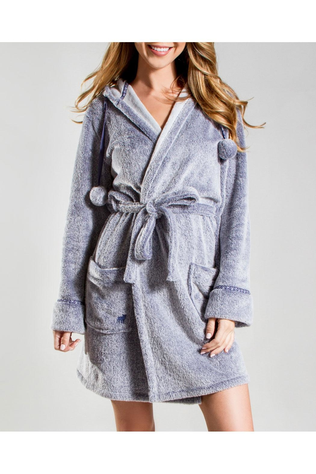 PJ Salvage Denim Blues Robe - Front Cropped Image