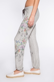 PJ Salvage Floral Bird Sweatpant - Front full body