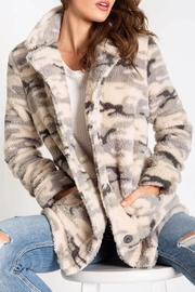 PJ Salvage Fluffy Camo Jacket - Front cropped