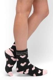PJ Salvage Hearts Fuzzy Socks - Front cropped