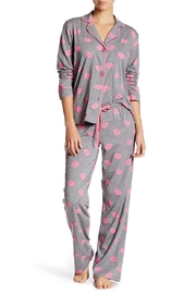 PJ Salvage Lips Heather Pajamas - Product Mini Image