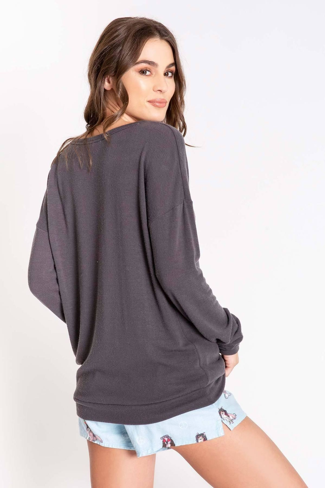 PJ Salvage Long Sleeve Top - Front Full Image