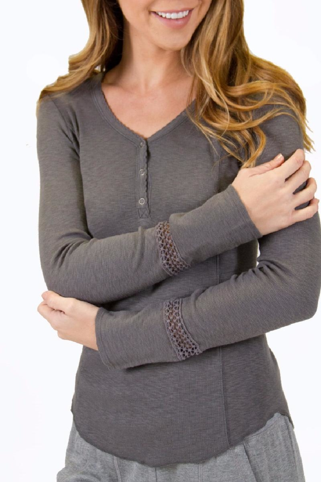PJ Salvage Ribality Henley Shirt - Front Cropped Image