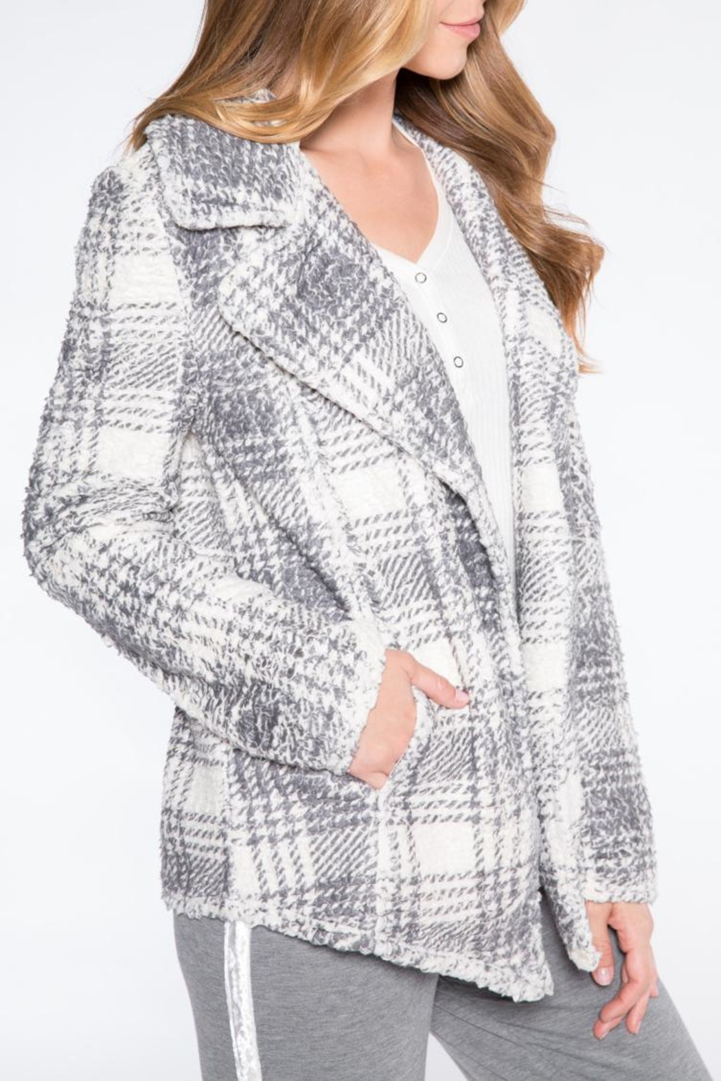 PJ Salvage Sherpa Chic Cardigan - Front Full Image