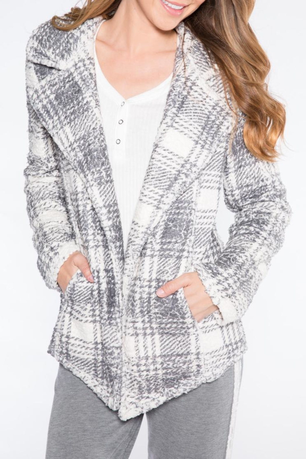 PJ Salvage Sherpa Chic Cardigan - Front Cropped Image