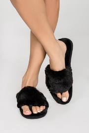PJ Salvage Slipper Fur Sliders - Product Mini Image