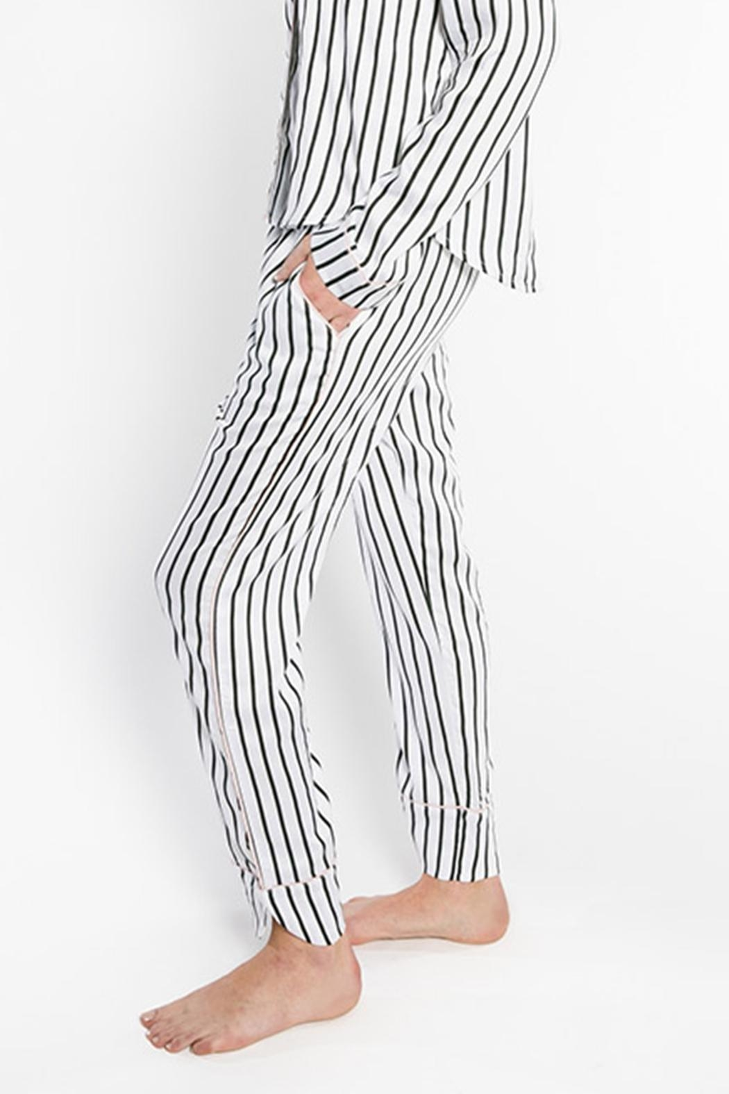 PJ Salvage Striped Pajama Pants - Front Full Image