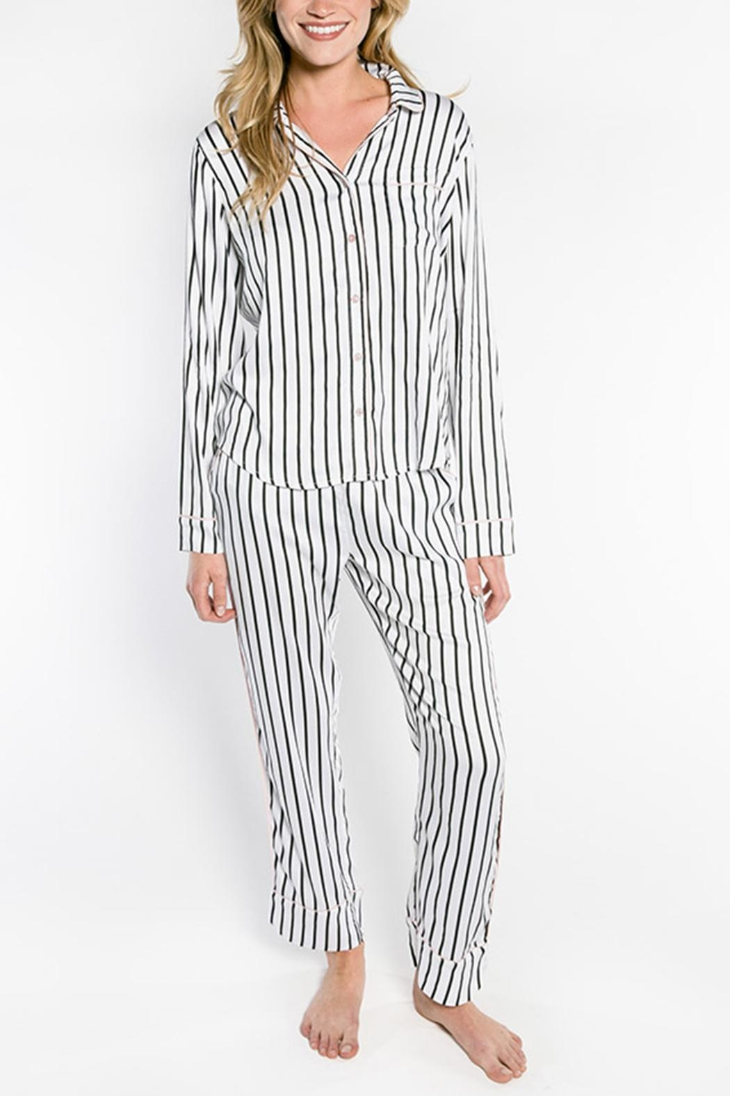 PJ Salvage Striped Pajama Pants - Back Cropped Image