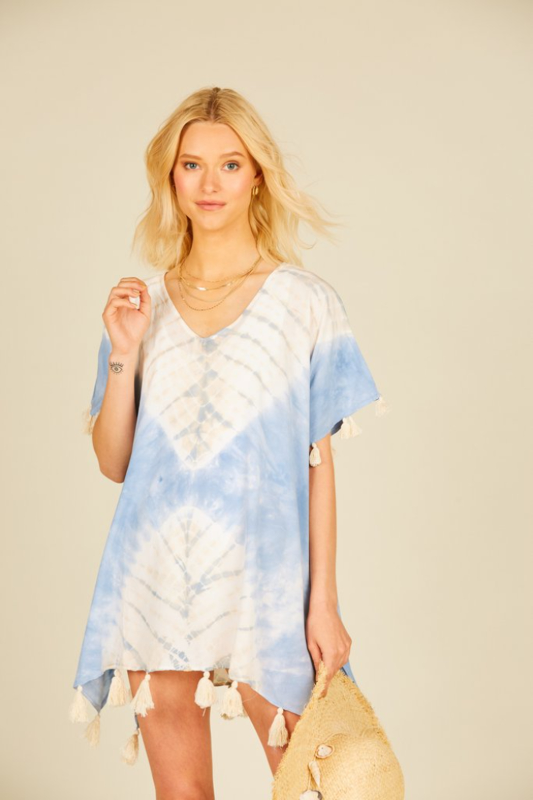 Surf Gypsy Placement Tie Dye Coverup - Main Image