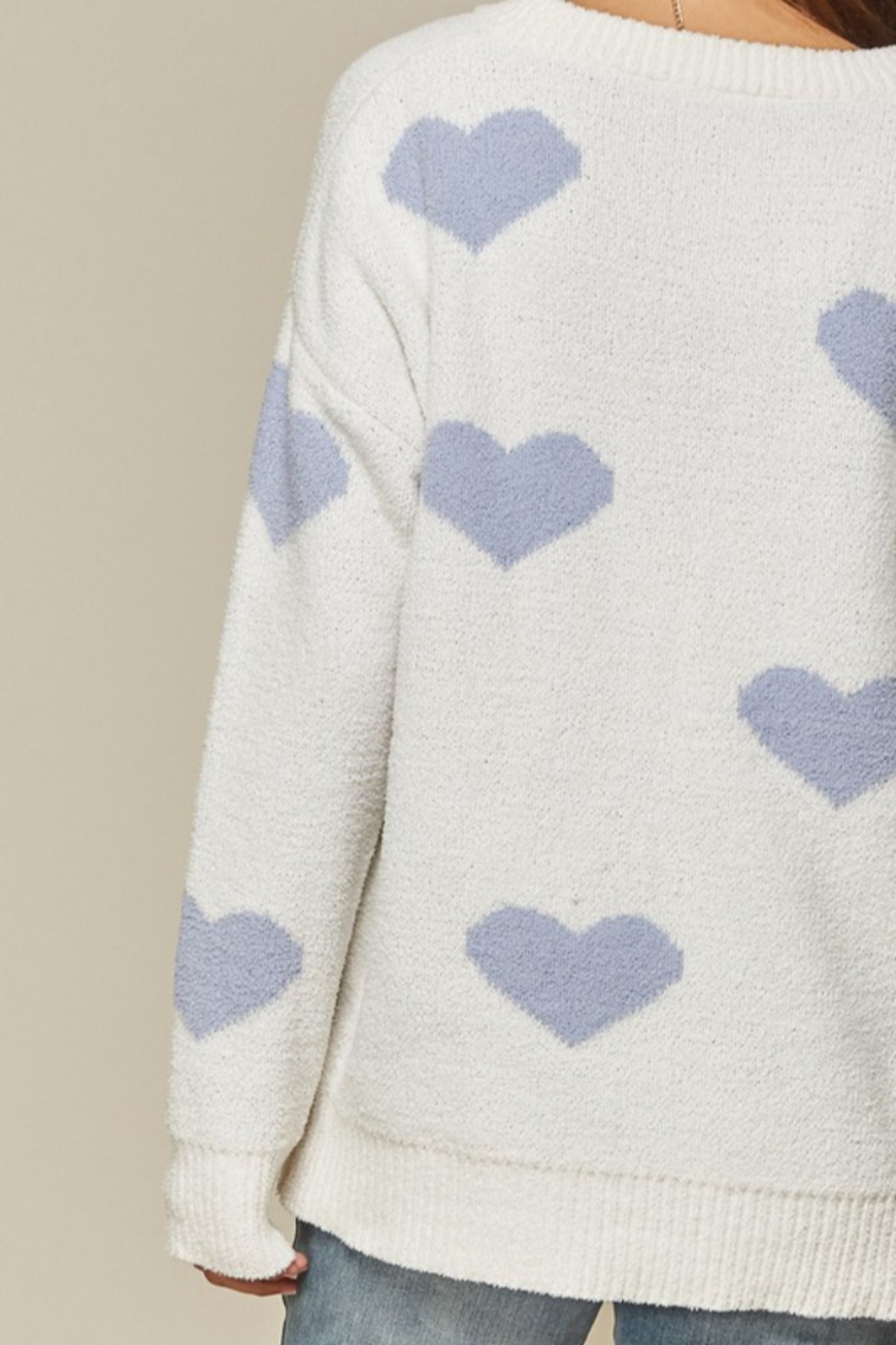 Andree by Unit Placid Hearts Sweater - Front Full Image