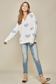 Andree by Unit Placid Hearts Sweater - Back cropped