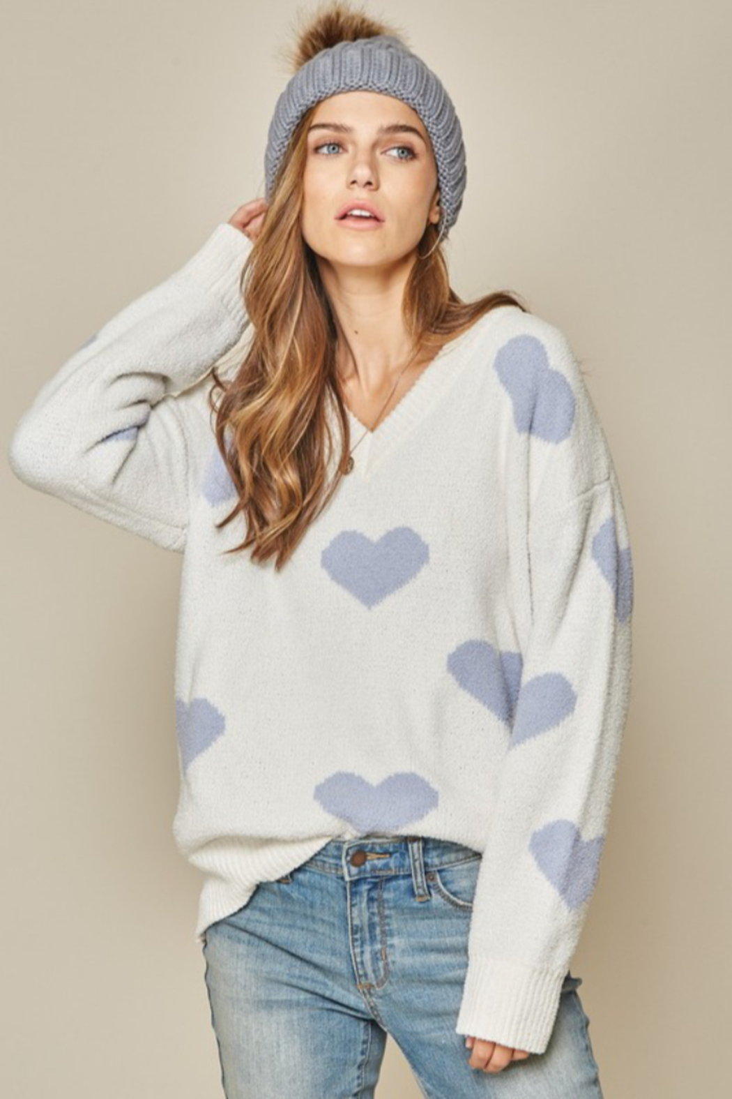 Andree by Unit Placid Hearts Sweater - Main Image