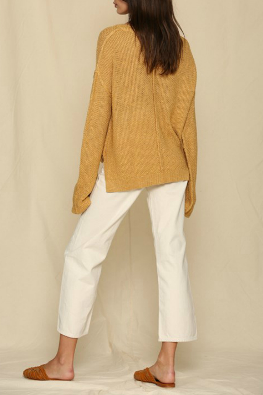 By Together  Placket Detailed Sweater - Front Full Image